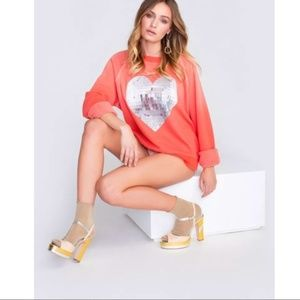 Wildfox My Disco Heart Sommers Sweatshirt NWT Med